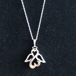 Jewelry - White & yellow gold necklace with diamond accents